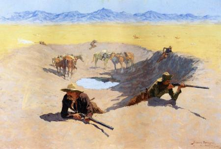 A Fight for the Waterhole (1903)